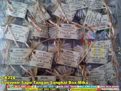 jual Souvenir Sapu Tangan Sanghai Box Mika