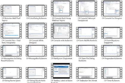 C# Dersleri Eğitim Videoları - Videolu Eğitim Seti İndir (29 Video - Derleme Başlangıç Seviye)