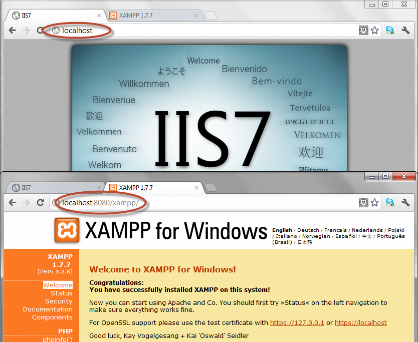 How To Run IIS And XAMPP Together On Same Machine | Youth