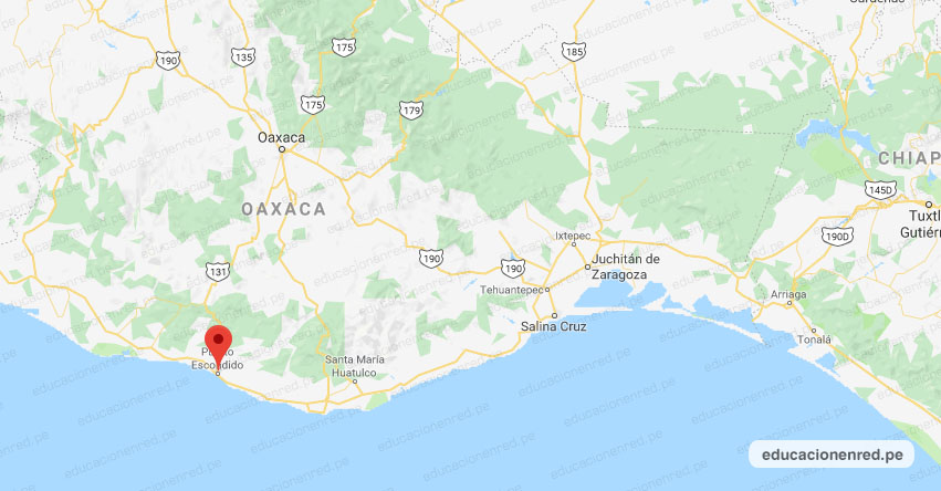 Temblor en México de Magnitud 4.9 (Hoy Sábado 23 Noviembre 2019) Sismo - Epicentro - Puerto Escondido - Oaxaca - OAX. - SSN - www.ssn.unam.mx