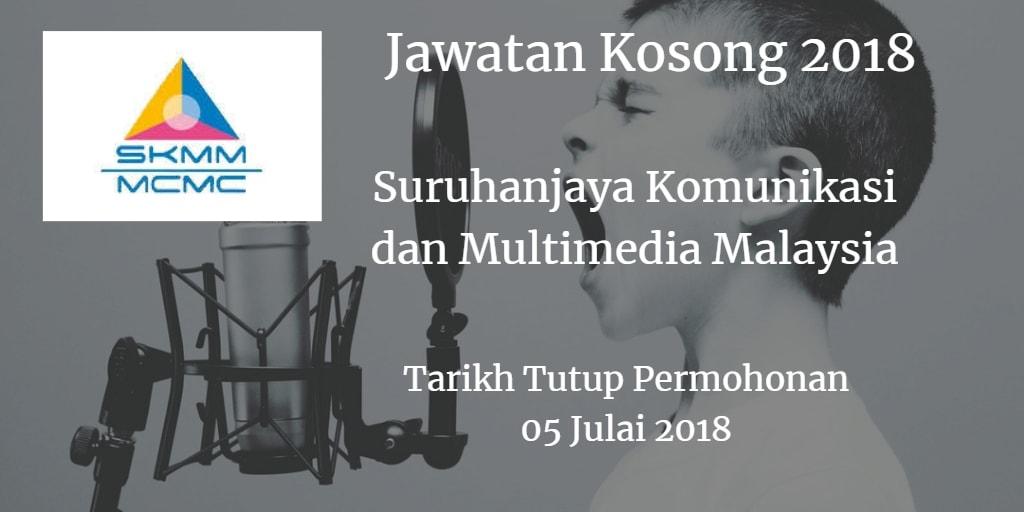 Jawatan Kosong MCMC 05 Julai 2018