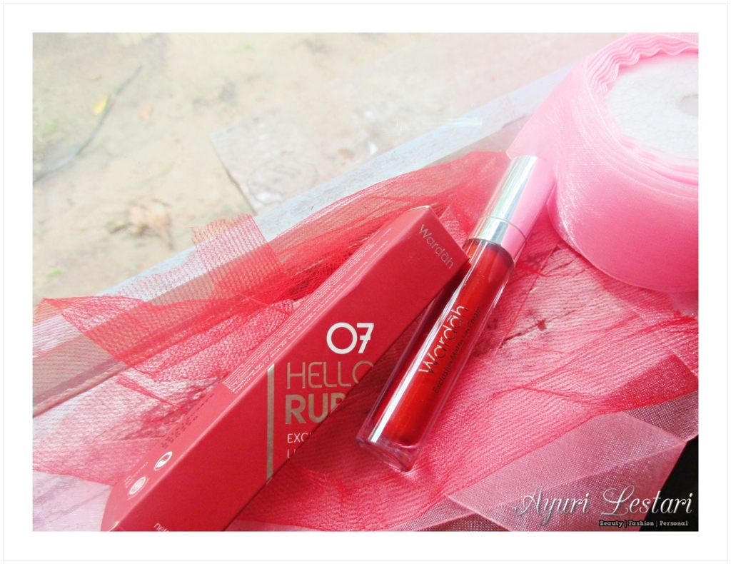Review Wardah Exclusive Matte Lip Cream No 07 Hello Ruby
