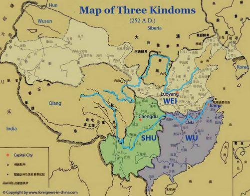 map of 3 kingdoms period