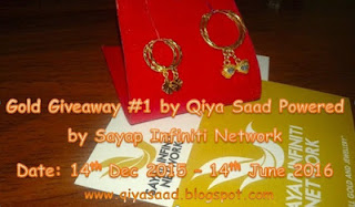 Gold Giveaway #1 by Qiya Saad Powered by Sayap Infiniti Network