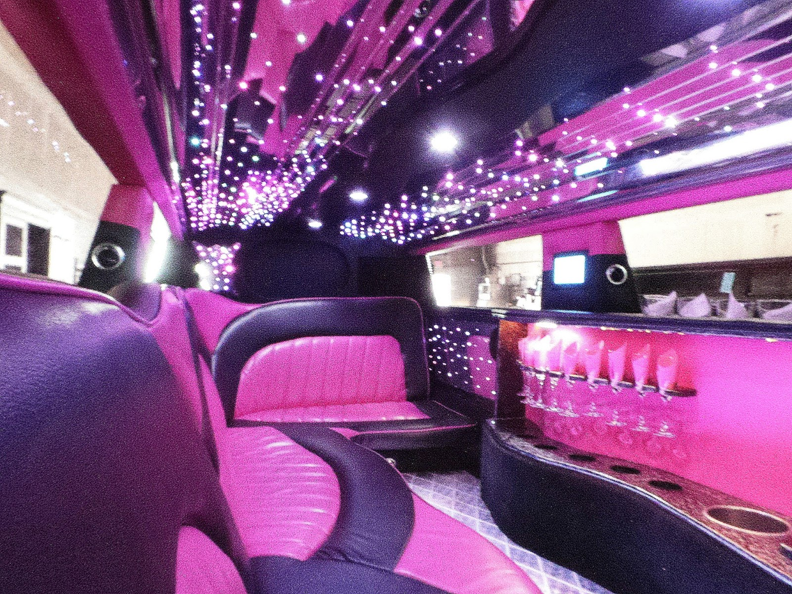 """Luxury Limousines and Party Buses """"Sweet 16 Pink limo Bliss"""""""