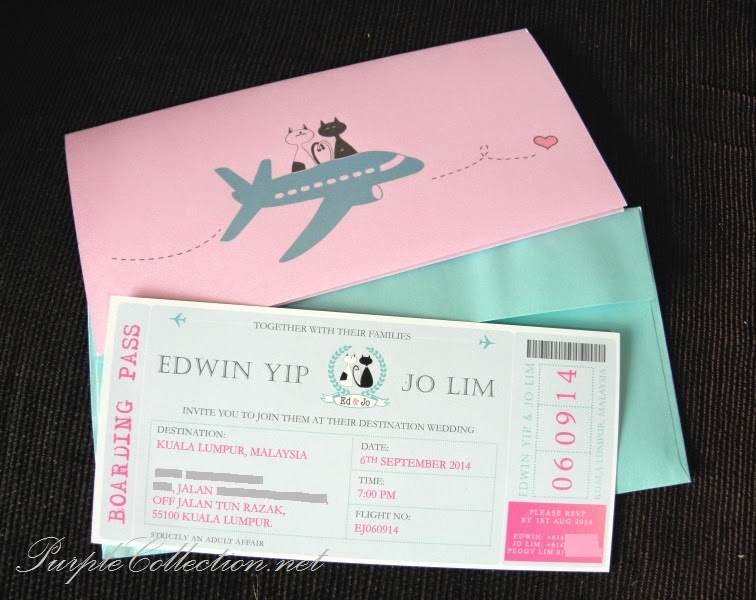 boarding pass card, wedding, travel, marriage, kitty, kitten, cat, love, flying heart, aeroplane, light blue, pink, cover, perfume, invitation, scented, art card 260g, printing, cetak, kad kahwin, comel, kartun, cartoon, kuching, kapal terbang, love is in the air, malaysia, kuala lumpur, selangor, singapore, johor bahru, JB, penang, perak, sabah, sarawak, brunei, australia, new zealand, united kingdom, canada, chinese, modern, unique, special, online, purchase, portfolio, past works, personalized, personalised, handmade, hand crafted, custom design, passport printing, wedding decoration
