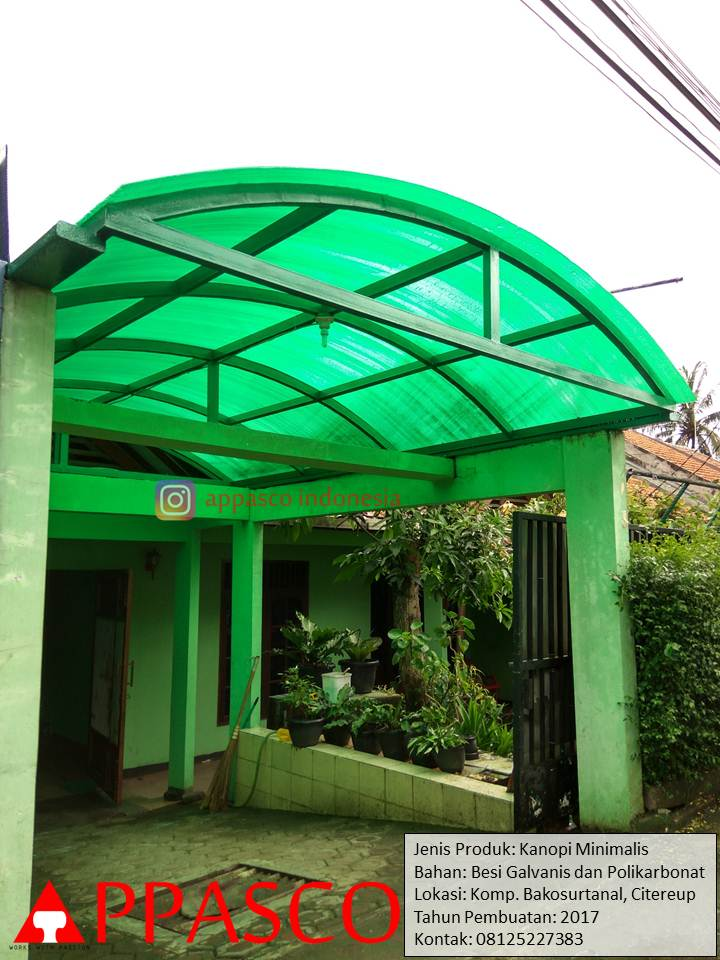 kanopi minimalis atap melengkung
