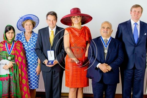 Dutch Royal Family attended the award ceremony of the Four Freedoms Awards 2014