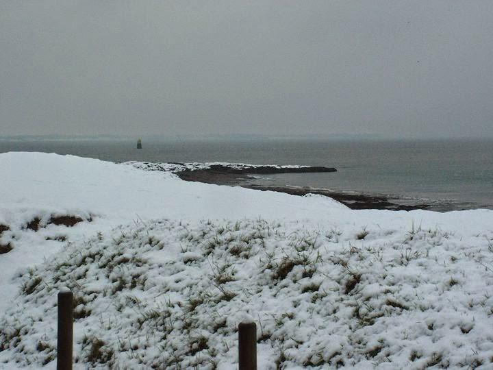La pointe de Kervoyal sous la neige en hiver!