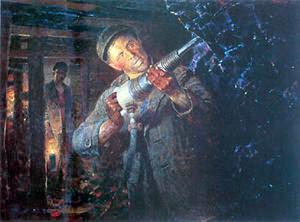 Representación artística de Alekséi Stajánov