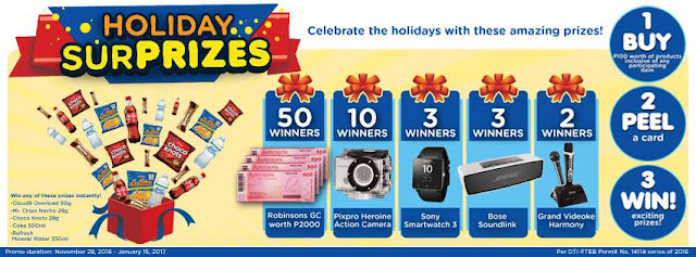 Ministop PEPSI Holiday Treats Promo, Philippines promo, contest and promo