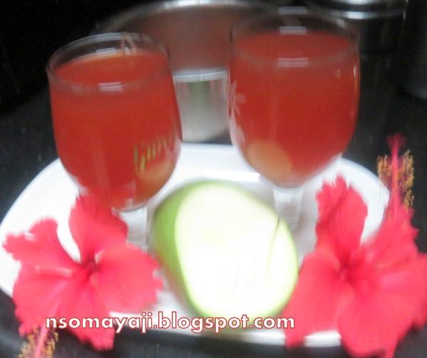 ಅಡಗ Adige Hibiscus Flower Raw Mango Drink