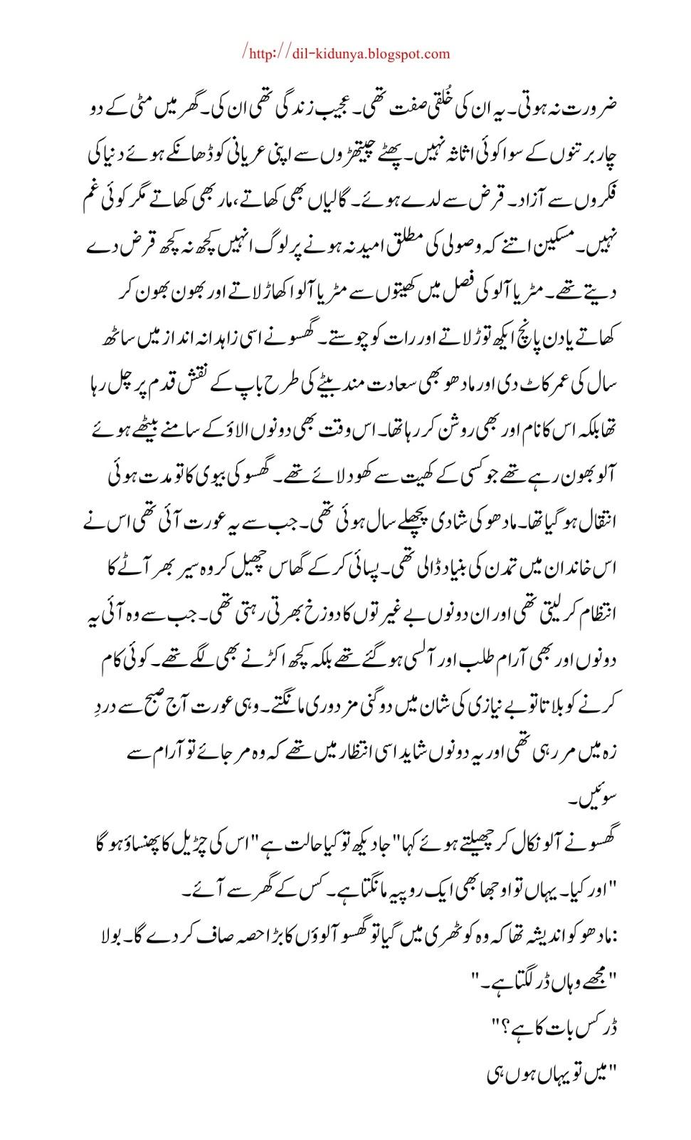 DIL KI DUNYA: Kafan A beautiful Famous Urdu Short Story by