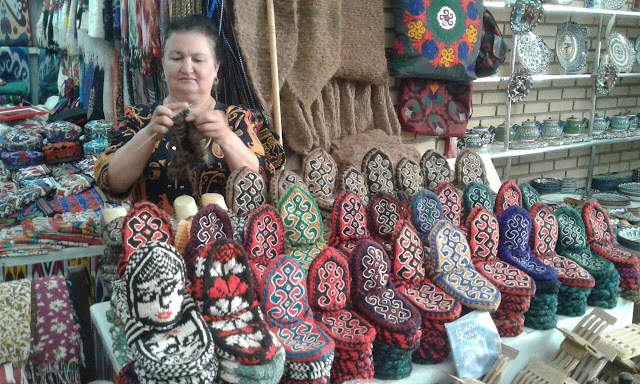 uzbekistan art craft textiles tours, khivan textile specialities, uzbekistan small group tours