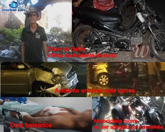 Acidentes com vítimas fatais e tentativa de homicídio, marcam o final de semana em Chapadinha