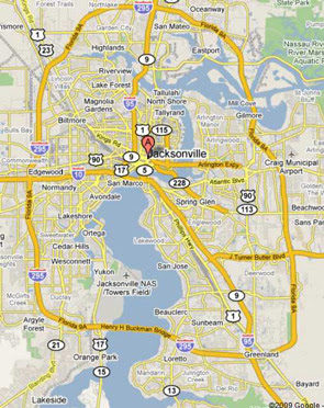 Map Of Jacksonville maps of dallas: Map of Jacksonville FL