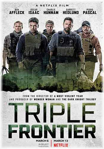 Triple Frontier 2019 Dual Audio Hindi Dubbed 480p HDRip 400MB Poster