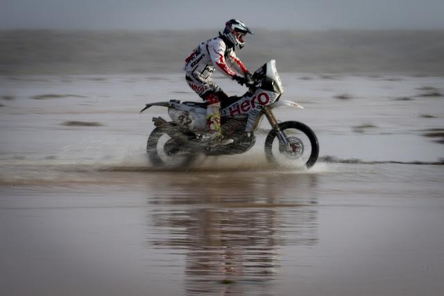 Hero MotoSports Team Rally rider,  CS Santosh-