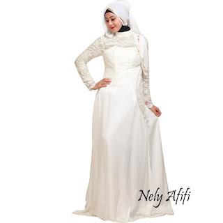 Kebaya Gaun Pesta Putih