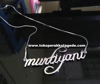 kalung nama,kalung liontin, kalung perak