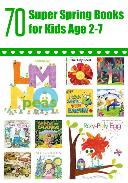 Spring books for kids age 2-7 with extension activities