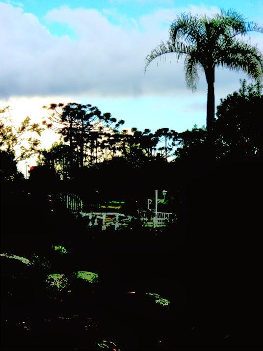 Por do Sol no Parque do Palácio, em Canela