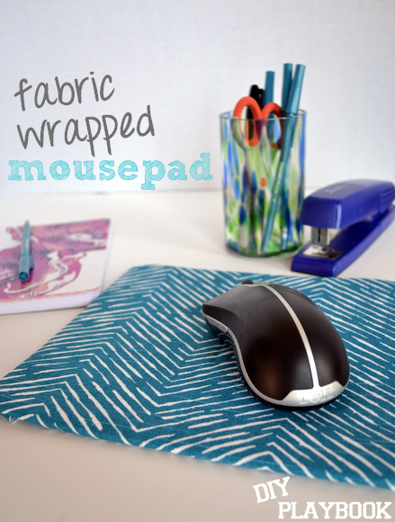Fabric wrapped mousepad