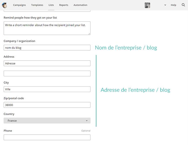 Newsletters : créer un formulaire d'inscription avec Mailchimp, et l'ajouter à son blog sous Blogger