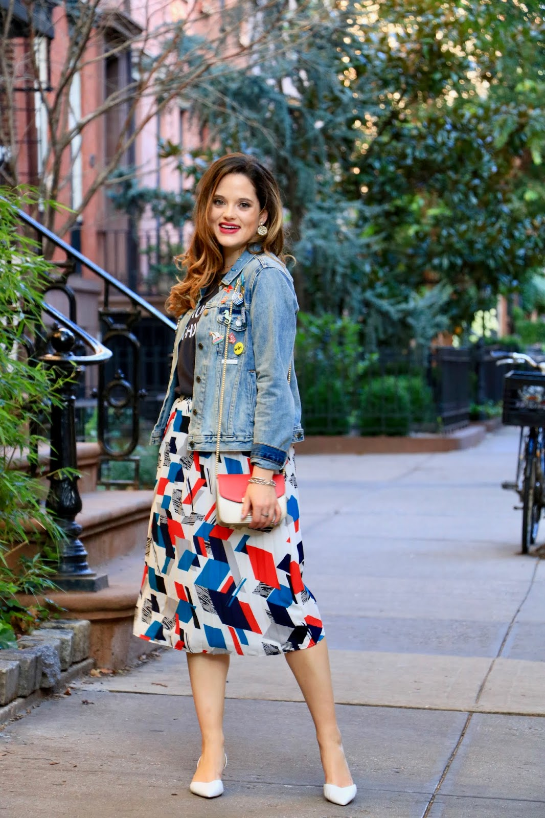 Nyc fashion blogger Kathleen Harper's jean jacket outfit ideas