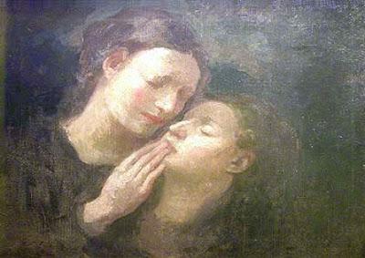 Πίνακας του Χαλίλ Γκιμπράν, Murmure du silence,   λάδι σε καμβά, 1914 Gibran Khalil,   poète et peintre libanais, 1883 -1931