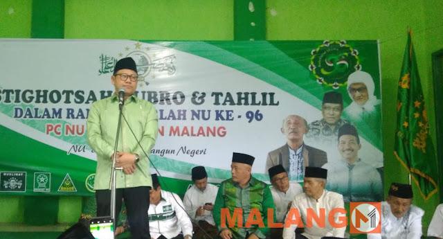 Hadiri Harlah NU di Kabupaten Malang, Cak Imin Ajak Warga NU Besarkan PKB