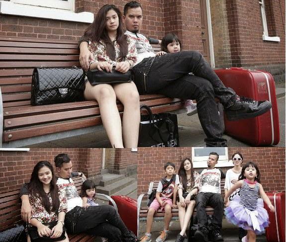 Tiara Anak Mulan Jameela bersama Ahmad Dhani Saat Liburan