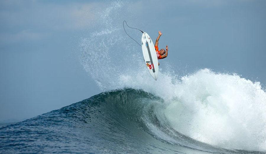 Kelly Slater in Padang Padang 2020 Big September Swell