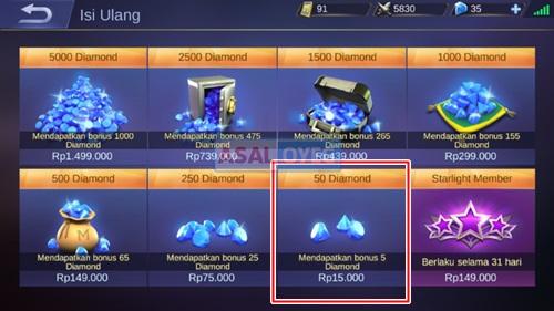 Cara Top Up Beli Diamond Mobile Legends Pakai Pulsa Dan Kartu Kredit