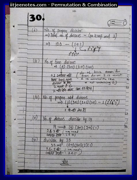IITJEE  Competition Notes on Permutation & Combination9