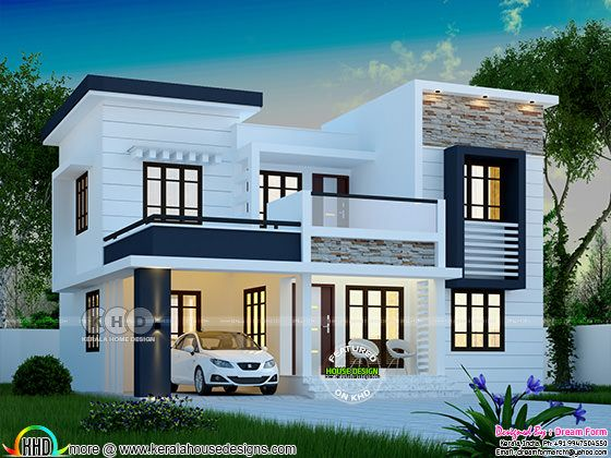 1748 square feet modern 4 bedroom house plan kerala home - Kerala home designs photos in double floor ...