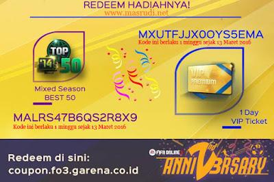 Kode Redeem Fifa Online 3 (FO3) Indonesia Terbaru