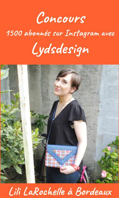 Concours 1500 abonnés Instagram avec Lyds Design-Lili LaRochelle à Bordeaux