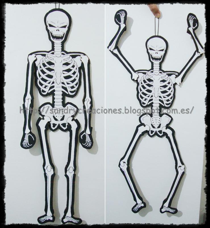 SanDryCreaciones: Esqueleto articulado de Halloween