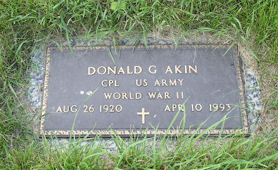 Donald Akin Racine Wisconsin Florida West Lawn Memorial Park