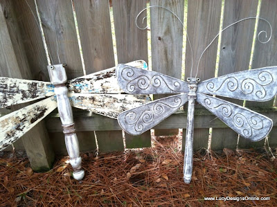recycled dragonfly art