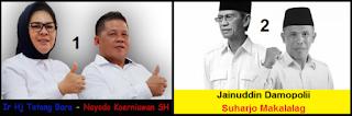 Dua pasang calon walikota dan wakil walikota Kotamobagu 2018