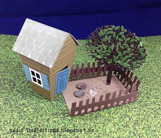 """Stampin' Up! Miniatur Märchenlandschaft mit Aschenputtel/ Aschenbrödel und Stanzen """"Ein Haus für alle Fälle"""""""