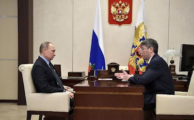 Vladimir Putin, Alexei Tsydenov in Kremlin.