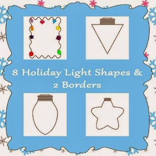 http://www.teacherspayteachers.com/Product/Printable-Holiday-Lights-Shapes-986358