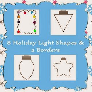 http://www.teacherspayteachers.com/Product/Printable-Holiday-Lights-Shapes-986358