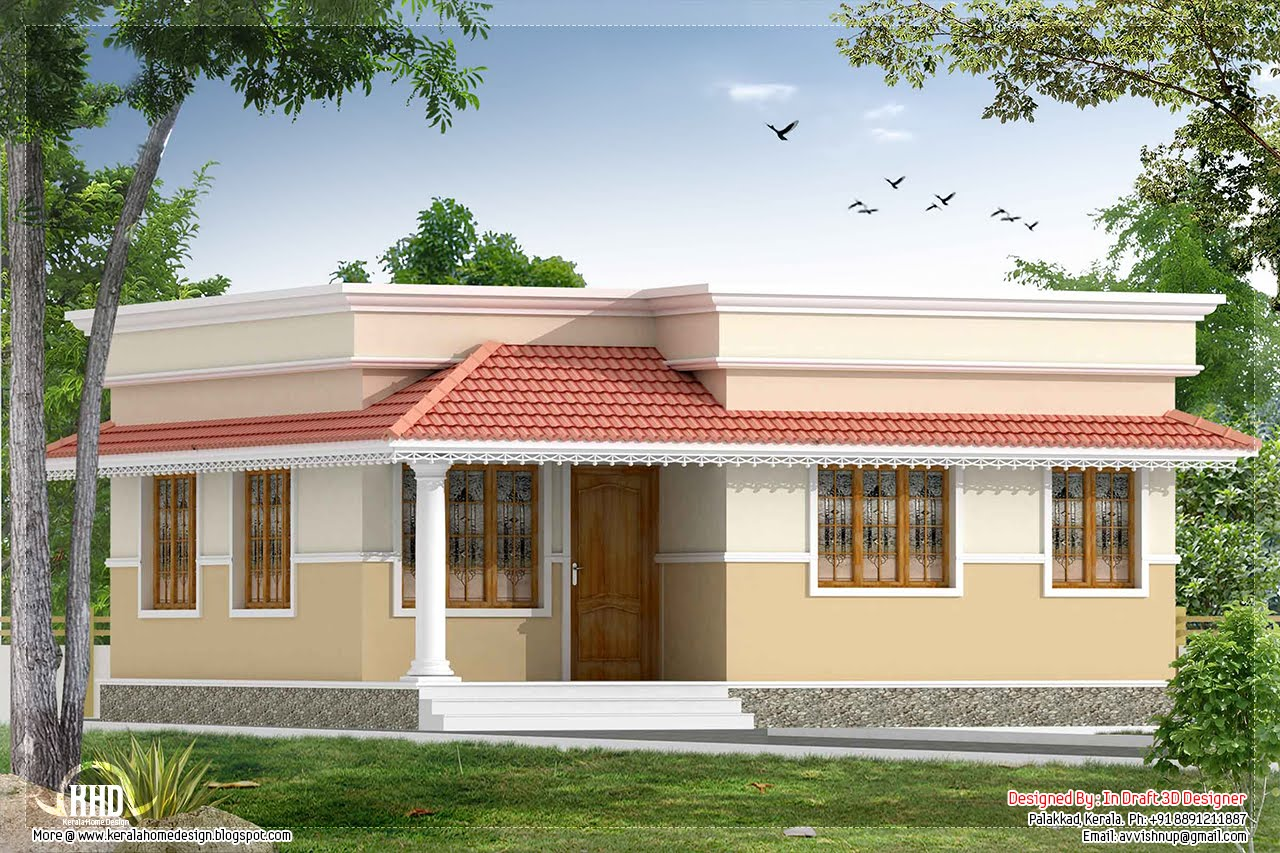 35 small and simple but beautiful house with roof deck for Small indian house images