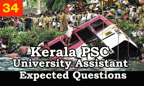 Kerala PSC : Expected Question for University Assistant Exam - 34