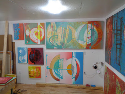 the others new abstract oil paintings by verna vogel work in progress