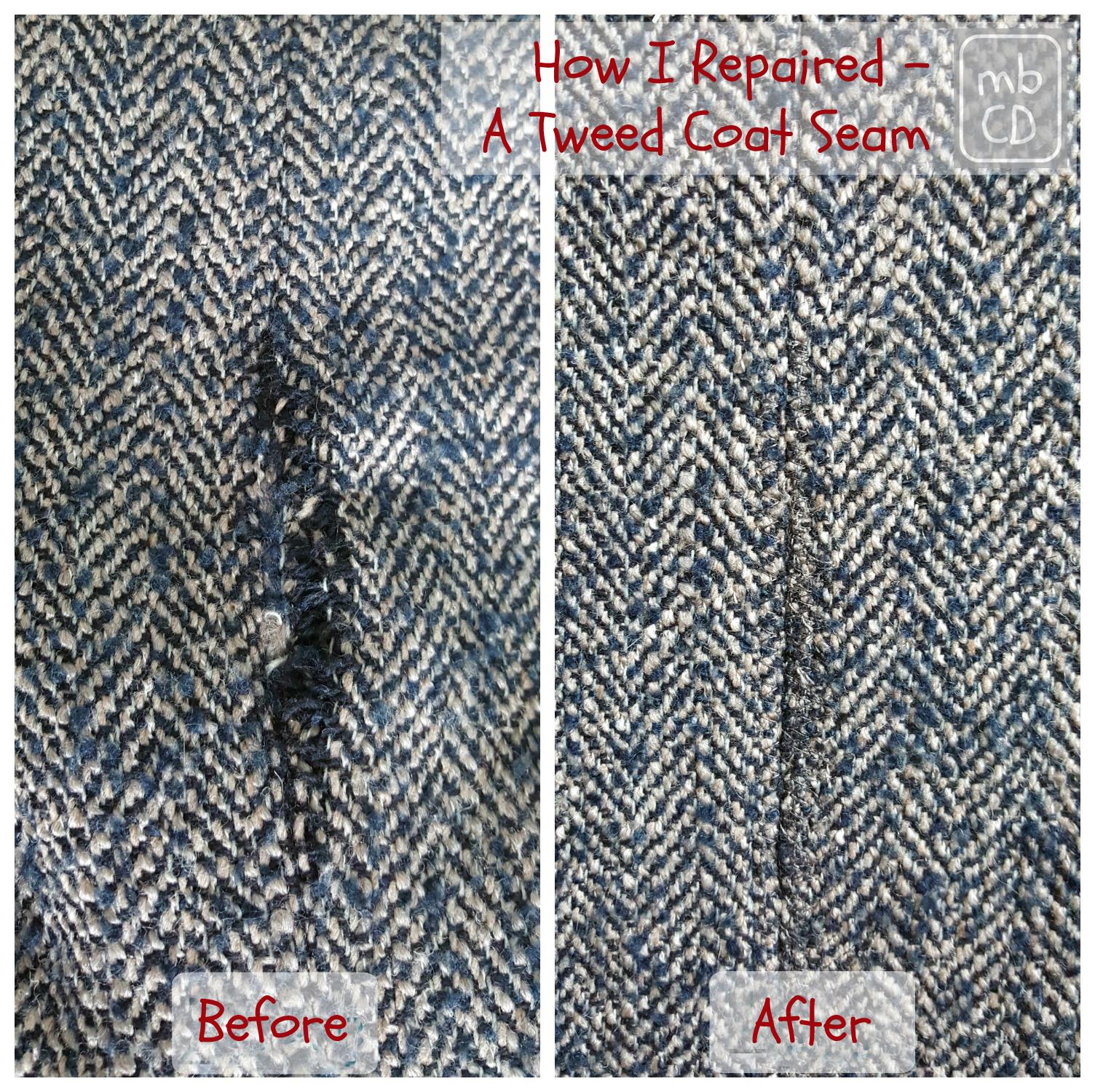03d11a1f513b1 Chris Dodsley @mbCD: How I Repaired - A Tweed Coat Seam